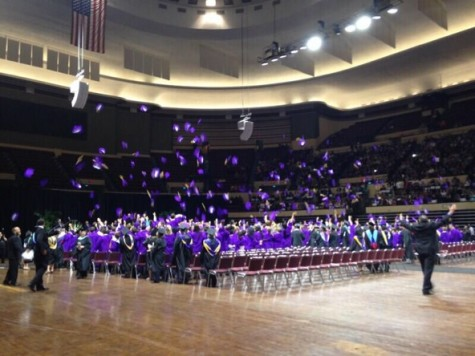 As seniors of 2014 celebrate their commencement they throw their caps in the air